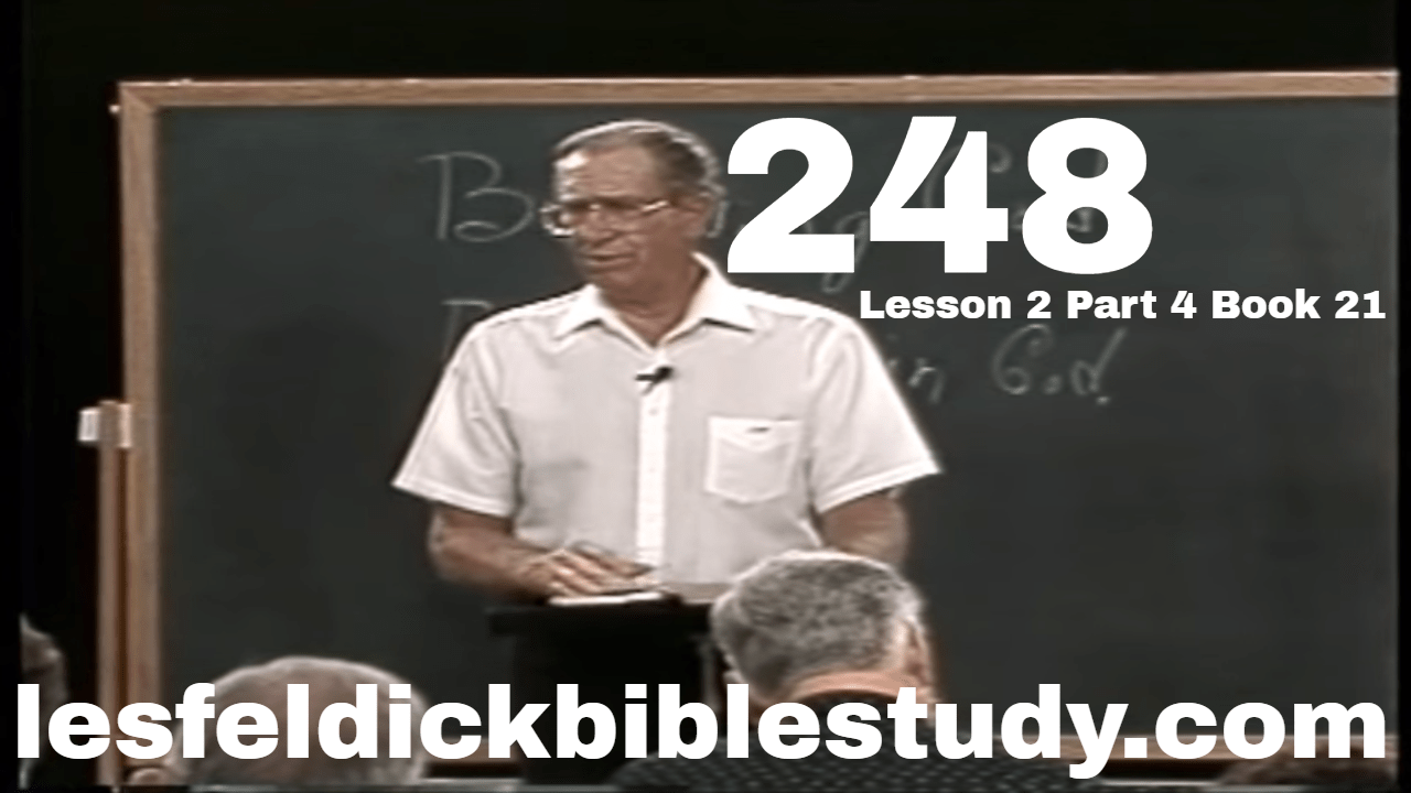 248 - Les Feldick Bible Study Lesson 2 - Part 4 - Book 21 - Redemption and Justification